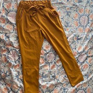mustard dress pants